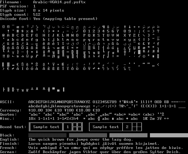 Console Fonts from Debian GNU/Linux 9 4 - The ZAP Group