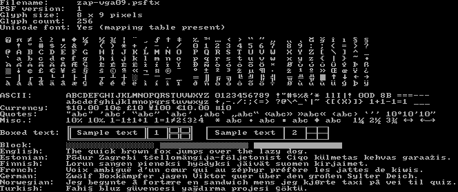 Linux Console Fonts - The ZAP Group